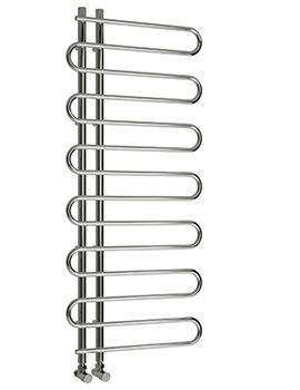Reina Jesi 600 x 1400mm Chrome Steel Designer Radiator
