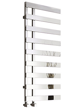 Reina Florina 500mm Wide Chrome Steel Designer Radiator - Image