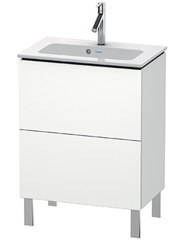 L-Cube 2 Drawer Floor Standing Compact Vanity Unit For Me By Starck Basin