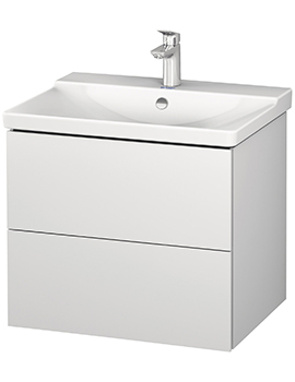 L-Cube 2 Drawer Wall Mounted Vanity Unit For P3 Comforts Basin