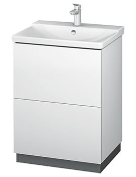 L-Cube 620mm Floor Standing Vanity Unit With Plinth Panel