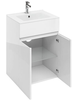 Britton D45 600 x 460mm White Double Door Unit With Basin