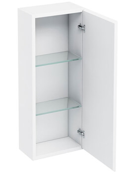 Britton Single Mirrored Door Wall Hung Cabinet Antracite Grey - 300mm - AC30G - Image