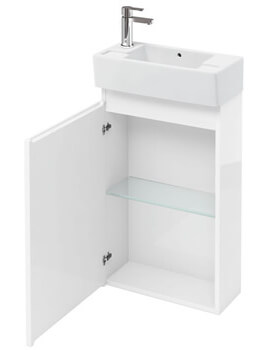 Compact 250mm Floor Standing Unit With Left Hand Basin
