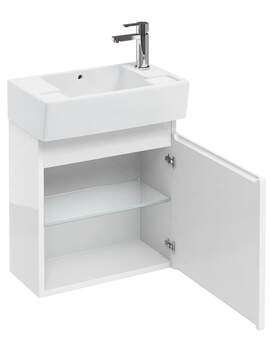 Compact 305mm Wall Hung Unit With Right Hand Basin