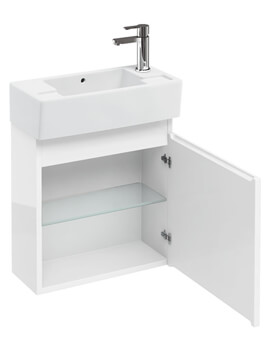 Britton Compact 500 x 210mm White Wall Hung Unit