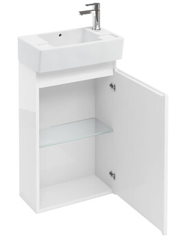 Compact 305mm Floor Standing Unit With Right Hand Basin