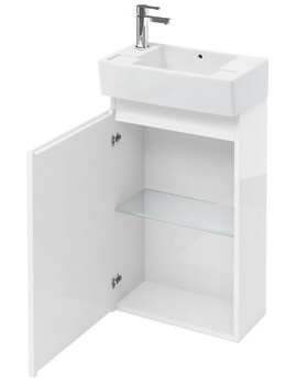 Compact 305mm Floor Standing Unit With Left Hand Basin