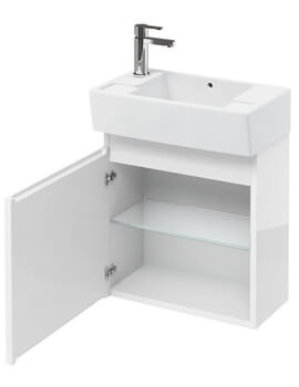 Compact 305mm Wall Hung Unit With Left Hand Basin
