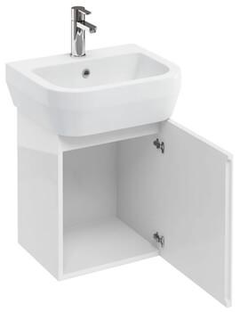 Aqua Cube 500mm White Wall Hung Unit With Basin