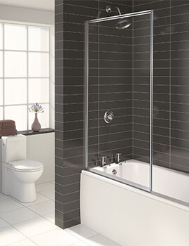 Aqua 3 Fully Framed Bath Screen White - FS6456AQU