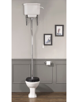 Empire High Level WC Pan With Cistern White