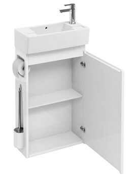 All In One Floor Standing Unit With Brush And Paper Holder