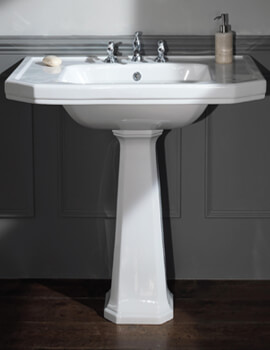 Empire 920mm 3 Tapholes Console Basin White