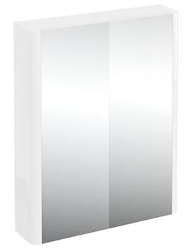 Compact 600mm Double Mirrored Door Cabinet