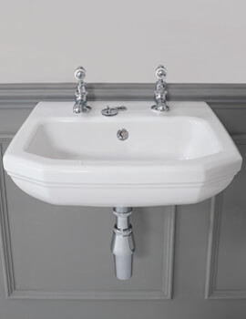 Empire 450 x 380mm 2 Taphole Cloakroom Basin