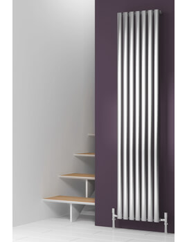 Reina Nerox 1800mm High Single Panel Vertical Radiator Polished Or Brushed
