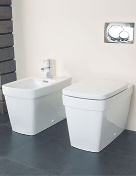 Henely Back To Wall WC Pan With Soft Close Seat White