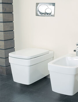 Henely Wall Mounted Pan With Soft Close Seat White