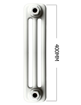 Roma Horizontal 400mm Height 3 Column Steel Radiator
