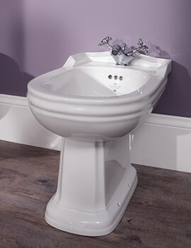 Balasani White Freestanding Back To Wall Bidet