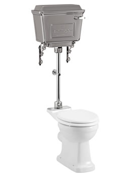 Standard Pan With Aluminium Cistern And Medium-Level Flush Pipe Kit