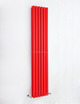 Revive 354 x 1800mm Red Double Panel Vertical Radiator