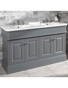 Victorian 1400mm Painted Grey Cabinet With Worktop And Basin