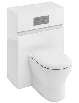 Britton Compact 600mm Back To Wall White WC Unit With Cistern