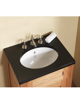 Victorian 440mm White Undermount Vanity Basin