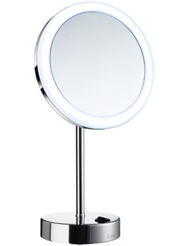 Smedbo Outline Shaving And Make Up Chrome Mirror With Light