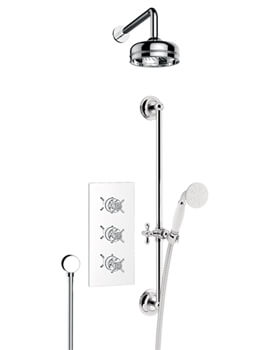 Dawlish Recessed Chrome Thermostatic Valve With Fixed Head And Kit