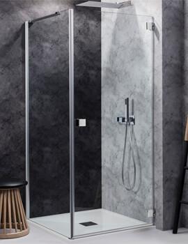 Design Right Hand Hinged Shower Door 900mm