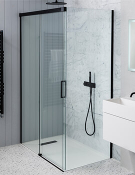 Simpsons MPRO 1200mm Wide Single Slider Shower Door 1400mm