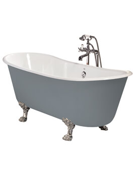 Porto Santo Bateau Cast Iron Roll Top Bath With Feet