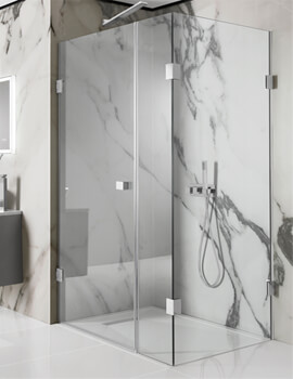 Simpsons Zion 1000mm Hinged Shower Door with Inline Panel