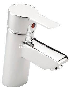 Angle Mono Basin Mixer Tap With Pop Up Waste Chrome