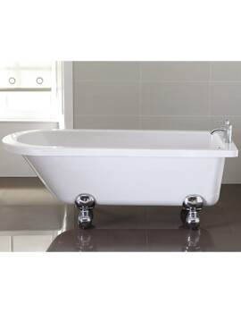 Bentham 1700 x 750mm White Single Ended Freestanding Bath