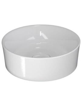 Saneux Podium 380mm White Round Cloakroom Washbasin