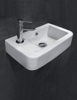 Henley 410 x 250mm Micro Basin With 1 Taphole On Left
