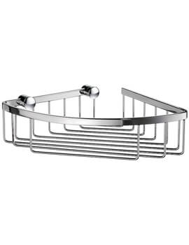 Sideline Polished Chrome 1 Level Corner Soap Basket