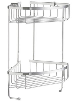Smedbo Sideline Polished Chrome 2 Level Corner Soap Basket - Image
