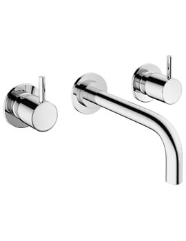MPRO 3 Hole Wall Mounted Basin Mixer Tap