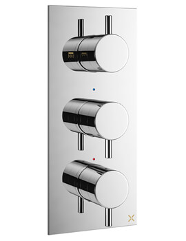MPRO Vertical Thermostatic Shower Valve With 3 Control