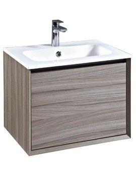 Enzo 610mm Wall Mounted Vanity Unit And Solid Surface Basin Nilo