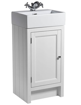 Hampton 420mm Chalk White Cloakroom Unit With Basin
