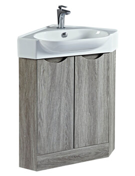Dakota 510mm Corner Vanity Unit With Basin Avola