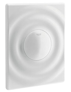Surf Alpine White Wall Mounted Flush Plate