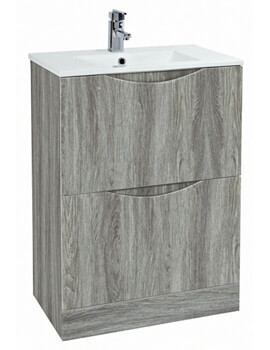 Malmo 600 x 460mm Floor Standing Unit With Basin Avola