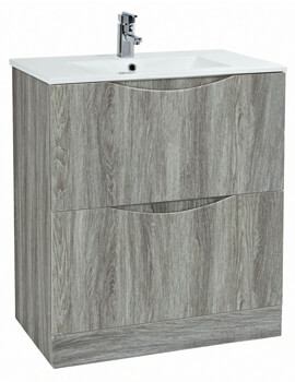 Malmo 750 x 460mm Floor Standing Unit With Basin Avola